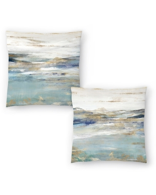 Upon a Clear I and Upon a Clear II Set of 2 Decorative Pillows (14x14)
