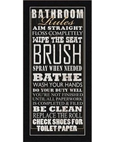 Amazing Deal on Bathroom Rules by Jim Baldw 20x9 Art Print Poster