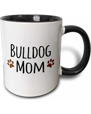 East Urban Home Bulldog Mom Dog by Breed Doggie Muddy Paws Love Doggy Lover Proud Mama Pet Owner Coffee Mug W000643982 Color: Black