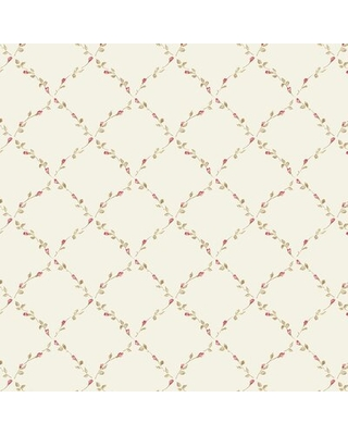 "Royalston 32.7' L x 20.5"" W Wallpaper Roll August Grove Color: Pink/Brown"