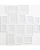 Gallery in a Box, Modern White Frames - Set of 15