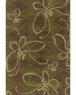 Red Barrel Studio Anny Butterfly Brown/Green Novelty Rug RDBA2207 Rug Size: Rectangle 2' x 3'