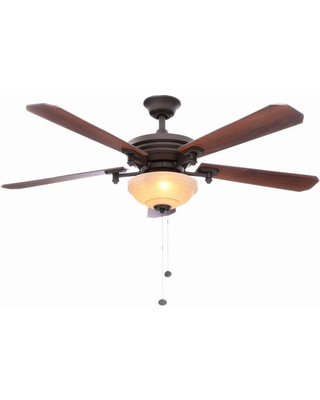 Hampton Bay Hampton Bay Baxter II 52 in  Indoor Oil-Rubbed Bronze Ceiling  Fan with Light Kit from Home Depot | BHG com Shop