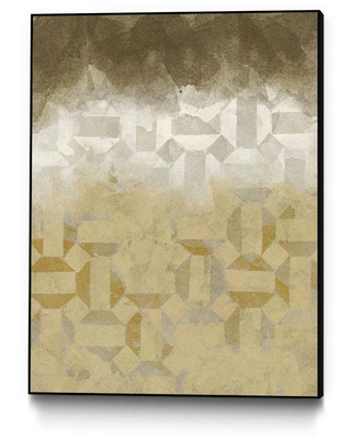 "CLICART INC 16 in. x 20 in. ""Shifting Earth I"" by Alonzo Saunders Framed Wall Art, Yellow"