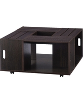 Roseline Modern Crate Box Inspired Coffee Table Espresso (Brown) - Homes: Inside + Out