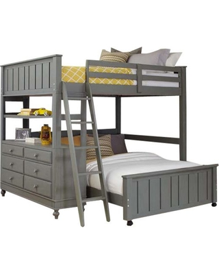 Amazing Savings On Boardwalk L Shaped Loft Bed Stone Full Over Full