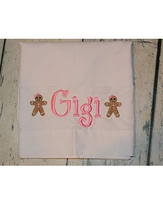 Personalized Gingerbread Pillowcase Standard Size