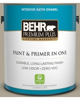 Spectacular Sales For Behr Premium Plus 1 Gal Ppu8 25 Ivy Topiary Satin Enamel Low Odor Interior Paint And Primer In One