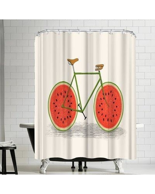 Sales On East Urban Home Florent Bodart Juicy Print Single Shower Curtain Polyester In Red Yellow Gold Size Standard 72 X 72 Wayfair
