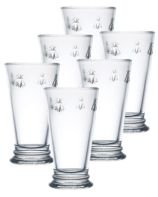La Rochere Collection 6-Pc. Napoleonic Bee Large Highball Glasses