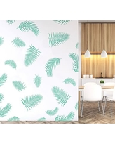 Palm Fronds Wall Decal, Mint