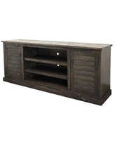 """Rosalind Wheeler Machado Solid Wood TV Stand for TVs up to 78"""" X113509039 Color: Aquamarine"""