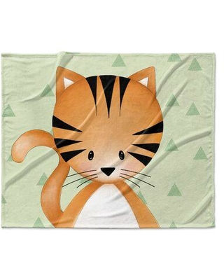 Isabelle & Max Lenard Kitten Triangle Ultra Soft Baby Blanket W001681300 Color: Green