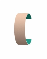 Les Georgettes by Altesse Reversible Wide 25mm, 1in Leather Band Insert - Nude/Aqua