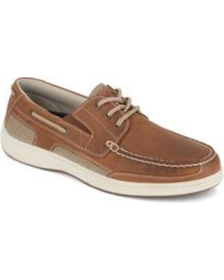 Dockers Dark Tan Beacon Leather Casual Classic Boat Shoes with NeverWet