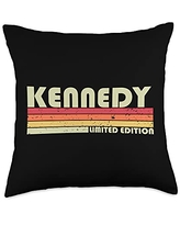 Customized Last Name Gifts Family Christmas Team KENNEDY Surname Funny Retro Vintage 80s 90s Birthday Reunion Throw Pillow, 18x18, Multicolor