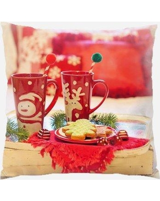The Holiday Aisle Reale Christmas Indoor/Outdoor Canvas Throw Pillow W001029442