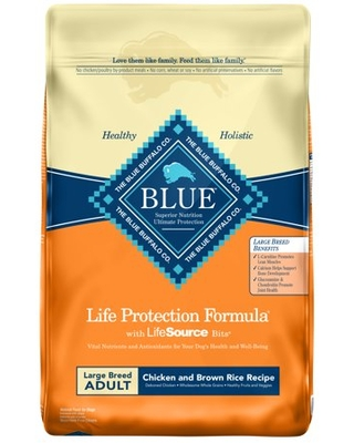 Blue Buffalo Life Protection Formula Chicken and Brown Rice Large Breed Adult Dry Dog Food, 30-lb