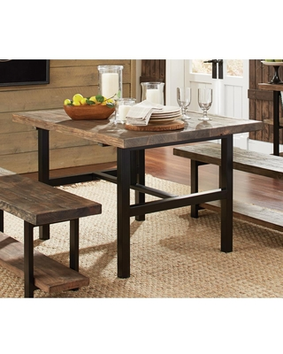 Alaterre Furniture Pomona Rustic Natural Dining Table, Rustic/Natural