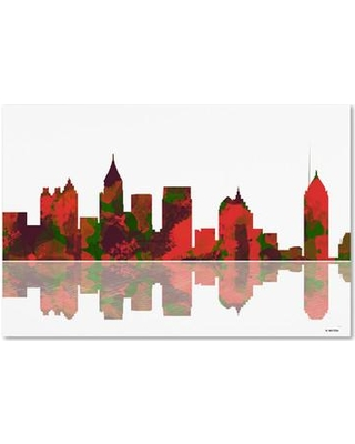 "Trademark Art 'Atlanta Georgia Skyline II' Graphic Art on Wrapped Canvas MW0070-C Size: 22"" H x 32"" W x 2"" D"