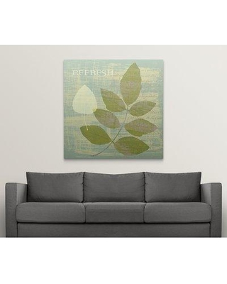 """Great Big Canvas 'Refresh' Graphic Art Print 1051999_1 Size: 48"""" H x 48"""" W x 1.5"""" D Format: Canvas"""