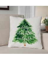 "The Holiday Aisle Bouck Baby Its Cold Outside Throw Pillow BF007219 Size: 18"" x 18"""