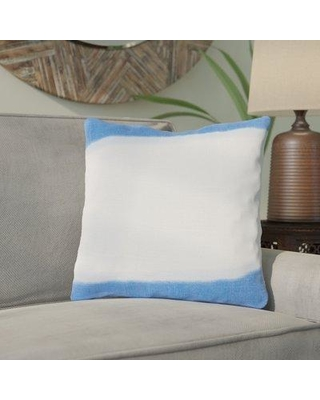 "Bloomsbury Market Ellington Smooth Linen Throw Pillow BBMT5907 Size: 20"" H x 20"" W x 4"" D Color: Sky Blue Filler: Polyester"