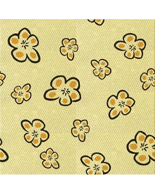 East Urban Home Floral Wool Yellow Area Rug X111754334 Rug Size: Square 3'