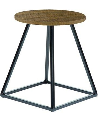Wrought Studio Gaston End Table BF183421 Table Top Color: Natural Wood