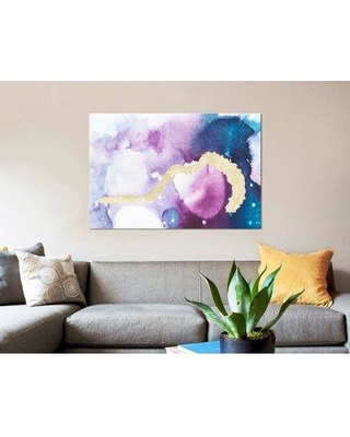 """East Urban Home 'Ice Crystals VII' Graphic Art Print on Canvas ERBR1203 Size: 8"""" H x 12"""" W x 0.75"""" D"""