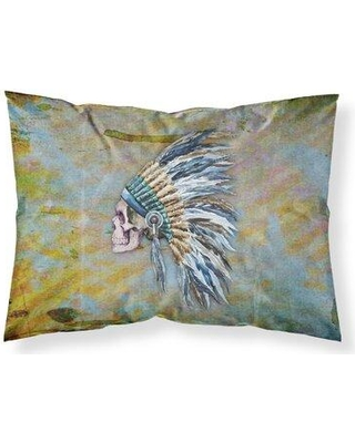 East Urban Home Day of the Dead Indian Chief Skull Pillowcase W000981806