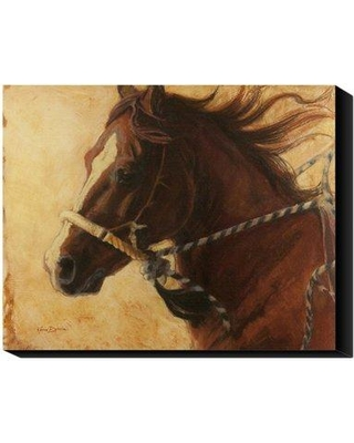 Global Gallery 'He's A Head Turner' by Karen Bonnie Painting Print on Canvas GCS-39805-1620-143 / GCS-39805-2835-143 Size: 16'' H x 20'' W