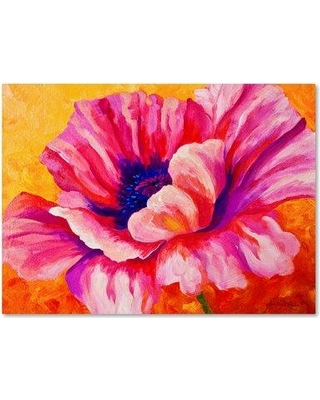 "Trademark Fine Art 'Pink Poppy' Print on Wrapped Canvas ALI15450-C Size: 18"" H x 24"" W"