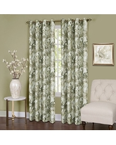 """Achim Home Furnishings Tranquil Lined Grommet Window Curtain Panel, 50"""" x 84"""", Green"""