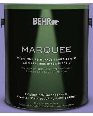 BEHR MARQUEE 1 gal. #630B-6 Butterfly Garden Semi-Gloss Enamel Exterior Paint and Primer in One