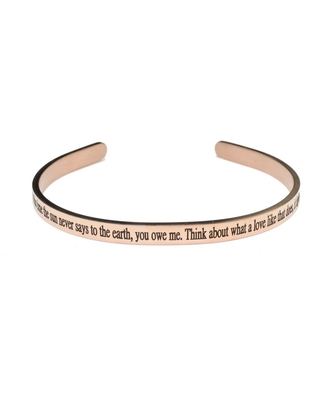 5mm solid stainless steel cuff - Love Like That