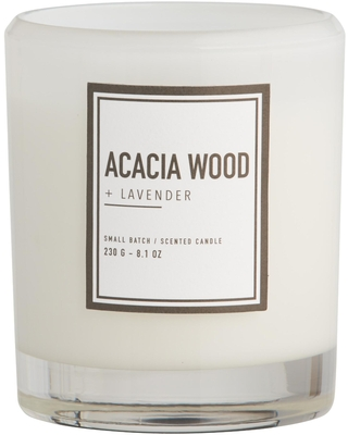 Acacia Wood & Lavender Clear Sham Scented Candle: Brown - Wax by World Market