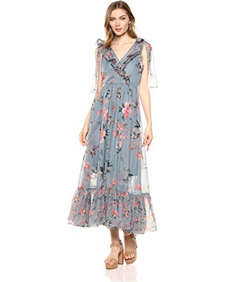 163e2393fba French Connection Women's Floral Maxi Dress, Cecile Summer surf Multi, 6