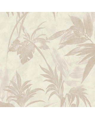 "Walls Republic Modern Floral Metallic Glittered Ravine 32.97' x 20.8"" Botanical Wallpaper R372 Color: Cream"
