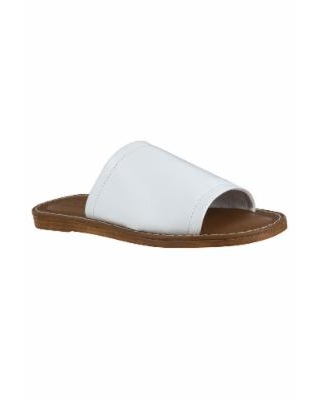 Wide Width Women's Ros-Italy Sandals by Bella Vita in White Leather (Size 11 W)