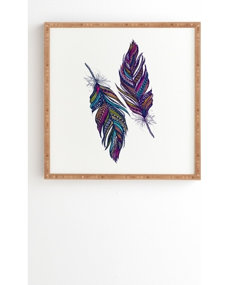 "Stephanie Corfee Festival Feathers Framed Wall Art 20"" x 20"" - Deny Designs, Multicolored"