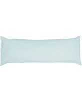 Betty Dain Stretch Jersey Body Pillowcase, 100% Knit Cotton, Soft Covering for Body Pillow, Dual Zippers for Easy Off/On, Machine Washable, Fits Most Body Pillow Styles, 21 x 54 inches, Aqua