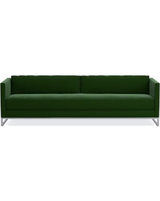"Paxton 108"" Sofa, Standard Cushion, Signature Velvet, Emerald, Polished Nickel"