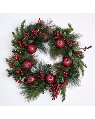 """August Grove Pomegranate and Berry 21"""" Styrofoam Wreath BF099865"""