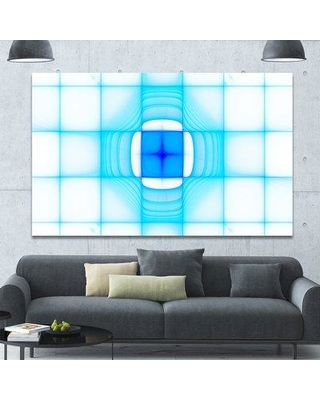 """Design Art 'Blue Thermal Infrared Visor' Print PT16053- Format: Wrapped Canvas Size: 40"""" H x 60"""" W x 1.5"""" D"""