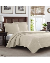 Tommy Bahama Bedding Chevron Quilt Set Tommy Bahama Bedding TBB1655 Size: King, Color: Dune