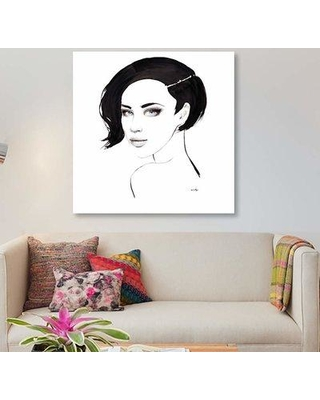 """East Urban Home 'Blue Eyes' Graphic Art Print on Canvas EBHS3195 Size: 18"""" H x 18"""" W x 1.5"""" D"""