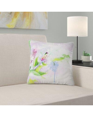 "East Urban Home Beautiful Floral Sketch Watercolor Pillow FUSI4969 Size: 16"" x 16"" Product Type: Throw Pillow"