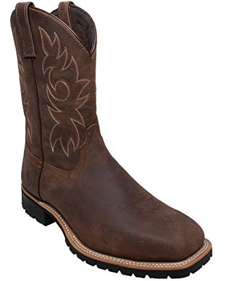 Deals for AdTec Mens 15 Inch Steel Toe Western cowboy Boots. Classic  Design, Crazy Horse Leather and Oil Resistant Out Sole