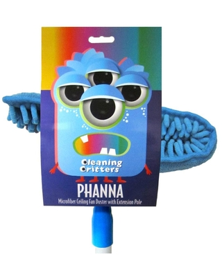 Ettore Cleaning Critters Phanna Microfiber Ceiling Fan Duster with Extension Pole
